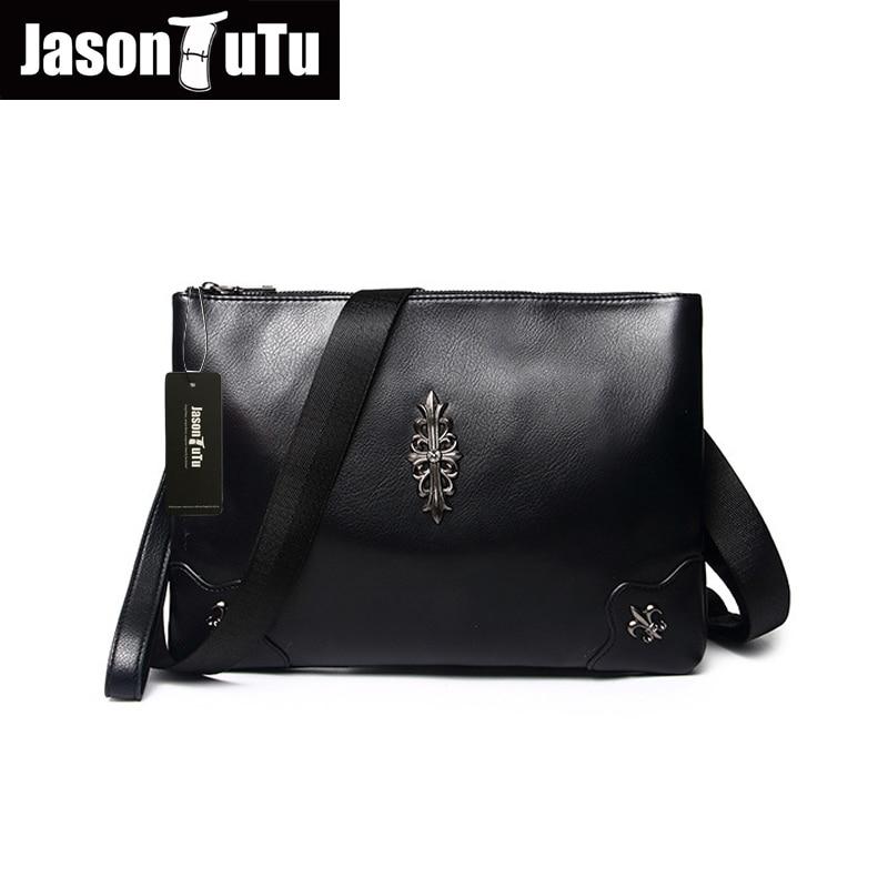 2017 promotions shoulder bags for men rivet bag Top PU Leather handbag Black small men bag Messenger bag  B110<br><br>Aliexpress
