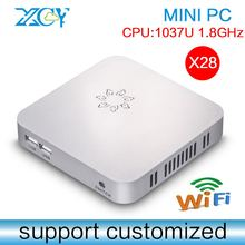 C1037U 1.8GHz 2g ram 16g ssd wifi X-28 32bit mini pc x86 cheap mini pc lowest price thin client Support Windows xp/7