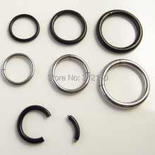 18G 16G 2.0*12mm 12G big Nostril Nose Ring Fake Lip Ear Nose Cartilage Septum Tragus Hoop Stud Steel No Piercing Clip
