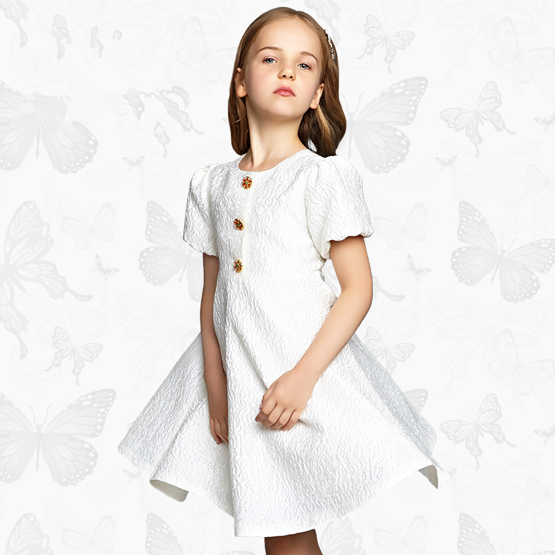 Girls Dress with Handmade Dragonfly 2017 Brand Princess Dress Long Sleeve Robe Fille Clothes Kids Dresses 43<br>