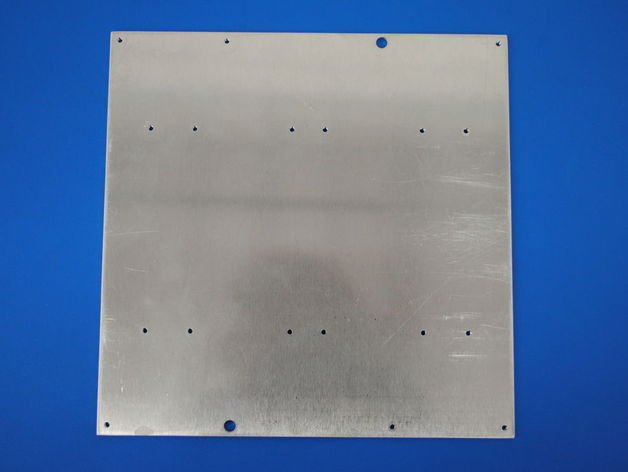 Reprap Prusa Mendel 3D printer Y-axis Aluminium Bed Mount Plate pre-drilled Objects heated printbed mount plate<br><br>Aliexpress