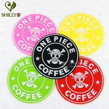 Silicone Circular One Piece Skull Coaster mats pads Smile Happy Anti-Heat SkidProof Cup Coaster Dishes Bowls mats & pads