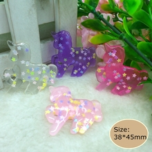 Kawaii unicorn Resin Flat back Cabochons for Phone Decoration, DIY, Holiday,Scrapbook Embellishment,Free Shipping