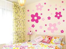 Vinilos Paredes Sale Wall Decor Poster Princess Girl Bedroom Stickers Children Cute Flowers Home Decoration 27pcs Big And(China)