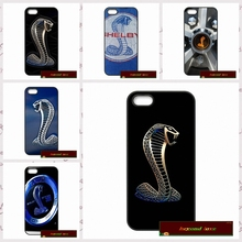 Hollywood Ford Mustang Shelby Cobra Logo case for iphone 4 4s 5 5s 5c 6 6s plus samsung galaxy S3 S4 mini S5 S6 Note 2 3 4  F020