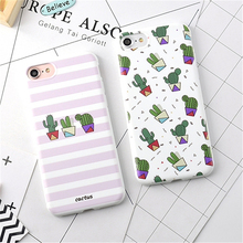 Hot Fruits Flower Cactus 3D Relief Silicone Case Cover iPhone 7 6 6s Plus Rubber Soft Phone Cases iphone7 Fundas - Good Friend Store store