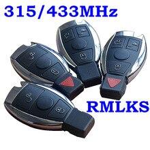 RMLKS 2 3 4 Buttons 315MHz Remote Car Key Fob Key Replacement Mercedes Benz year 2000+ NEC BGA Control 433MHz