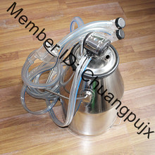 Milking Machine Parts, Goat Milking Bucket Group, Stainless Steel 201 Milk Bucket