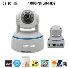Camara Ip Wifi 1080p Full HD H.264 P2p Onvif SD Card Max 64GB Store espia camera for Security Home,konlen