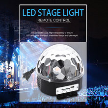 Lightme Crystal Magic Ball Voice Remote Control RGB Stage Light Party Lights Disco DJ Light With Speakers Support SD Card U Disk