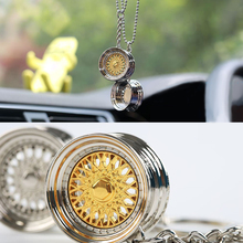 Brand Fashion Key ring 3D Miniature BBS Wheel Rim Model Keychain Popular Creative Car Auto Metal Mini Wheel Rim Tyre Key Chain(China)
