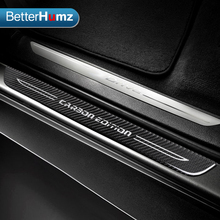 Accessories Door Sill Scuff Plate Guards Carbon Fiber Door Sills Protector Stickers For bmw E70 E71 E84 F15 X1 X5 X6 Car Styling(China)