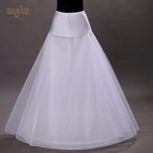 Long Tulle Wedding Petticoat Black A Line Cheap Bridal Underskirt Enaguas Para Vestidos De Novia(China)