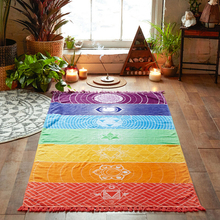 Hot Sale Mandala Blanket Rainbow Stripes Wall Hanging Elephant Tapestry Travel Summer Beach Towel Bikini Cover Up