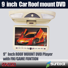 5pcs/lot For 9 inch Roof Mount Car DVD Monitor with 32bit Game/ MPEG4/ USB/ SD/ FM / IR