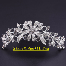 42*125mm Bridal Tiara Prom Rhinestone Crystal Hair Pin Comb Heart Crown Headband Women Wedding Party Jewelry Accessories(China)