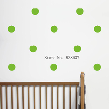 Mini Apple Wall Stickers adesivo de parede Vinyl Waterproof Wall Decals For Kids Room Nursery Art Decal DIY Style 24 Pcs ZA883(China)