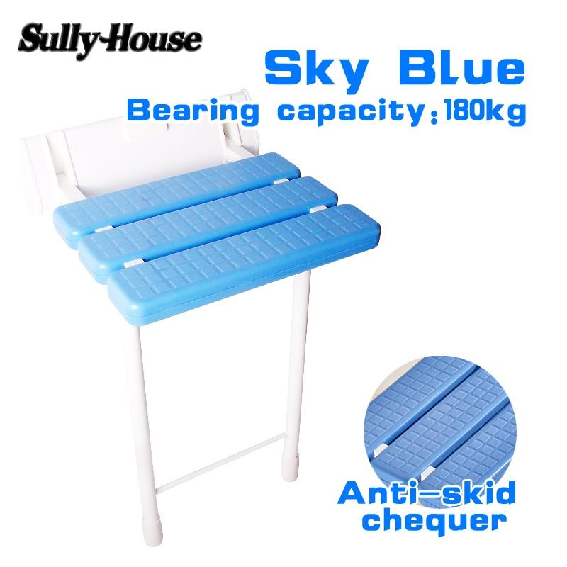 Салли дом противоскольжения душ откидное сиденье с ножки стула, ванная комната cadeira, настенный стул для пожилых людей, туалет складной стул(China)