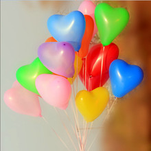 Love balloon 50pcs / lot high quality Color mixture wedding marry Valentine decoration essentials latex balloon Free shipping