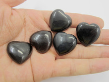 High Quality Rainbow Obsidian 25mm Heart Stone Gem Bead Pendant Cabochon 10pcs/lot Gem stone jewelry gift