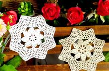 NEW cotton placemat cup coaster mug holder mat kitchen tableware happy table place mat cloth lace round Crochet kids doilies pad