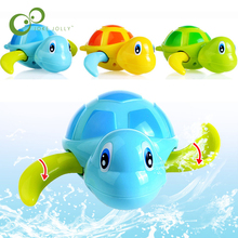 Essential New Born babies Swim Turtle Wound-up Chain Small Animal Baby Children Bath Toy Classic Toys Random Color WYQ(China)
