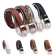 New 2017 Fashion Women Belt Brand Designer Hot Ladies Faux Leather Metal Buckle Straps Girls Fashion Accessories(China)