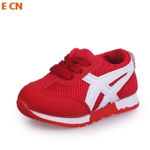 E CN brand New kids Sneakers casual spring autumn Breathable Girls Boys Sport flat casual Shoes Fashion Kids Mesh Sneakers(China)