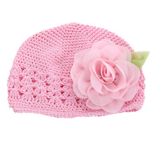 2016 new Flower Girls Baby hat crochet handmade photography props,knitted cute newborn winter hat,Solid baby girl cap #3Y