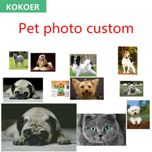Personal Photo Pets Picture Custom 5D DIY Diamond Painting Animal Pets Picture Full Drill Embroidery Beadwork Gift Cross Stitch