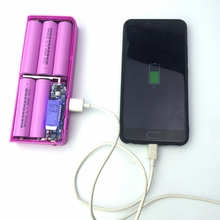 5 Slots 18650 Baterry Storage Box Case Backup Battery Charger with Dual USB Output Interface Fashion Baterry Power Bank Box