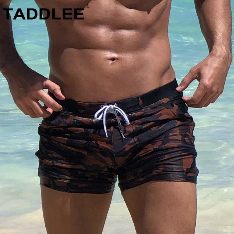 FakMe Men Swimwear Basic Long Swimming Trunk Surf Camo Shorts Swimsuits