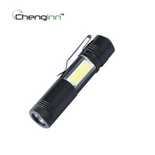 High brightness mini led flashlight Cree XPE cob work light Aluminium torch waterproof lamp linterna & 14500 Chenglnn Penlight(China)