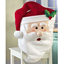 1pcs Lovely Mr Santa Claus Christmas Party Dinner Room Table Chair Cover Home Decorations Santa Grandpa Chairs Covering Hot Sale