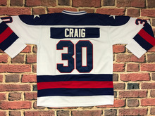 Ice Hockey 1980 Miracle On Ice Team USA Jim Craig 30 Hockey Jersey white All stitched