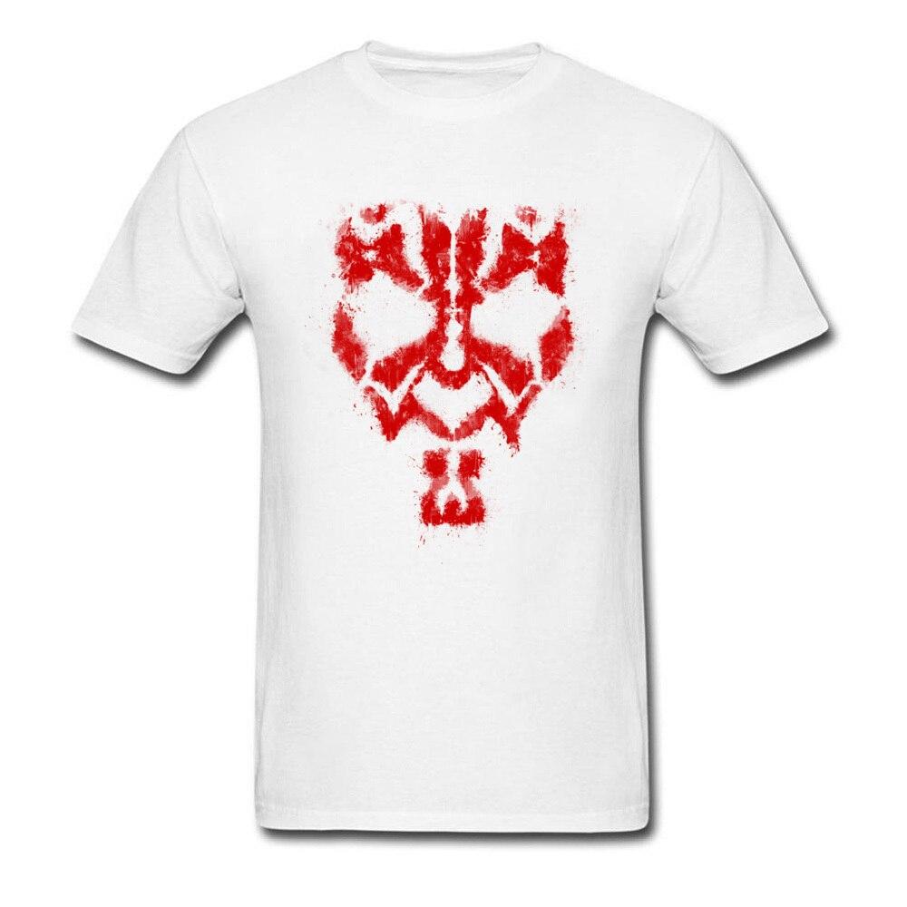 Round Collar Star Wars Darth Maul Grunge 100% Cotton Fabric Men T-shirts Summer Tops Tees 2018 Popular T-Shirt Short Sleeve Darth Maul Grunge white