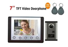 "MOUNTAINONE New arrival cheapest and top quality 7"" video door phone with ID card unlocking,home security intercom doorbell(China)"