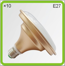 DHL 10 PACK aluminum 18W 24W 36W 50W LED UFO led LOW BAY led bulbs PAR light E27 220V 230V 240V warm white cool white golden