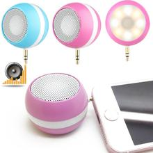 2 in1 Mini Speaker Portable Outdoor External Bass Audio LED Fill Light Photography Self Timer