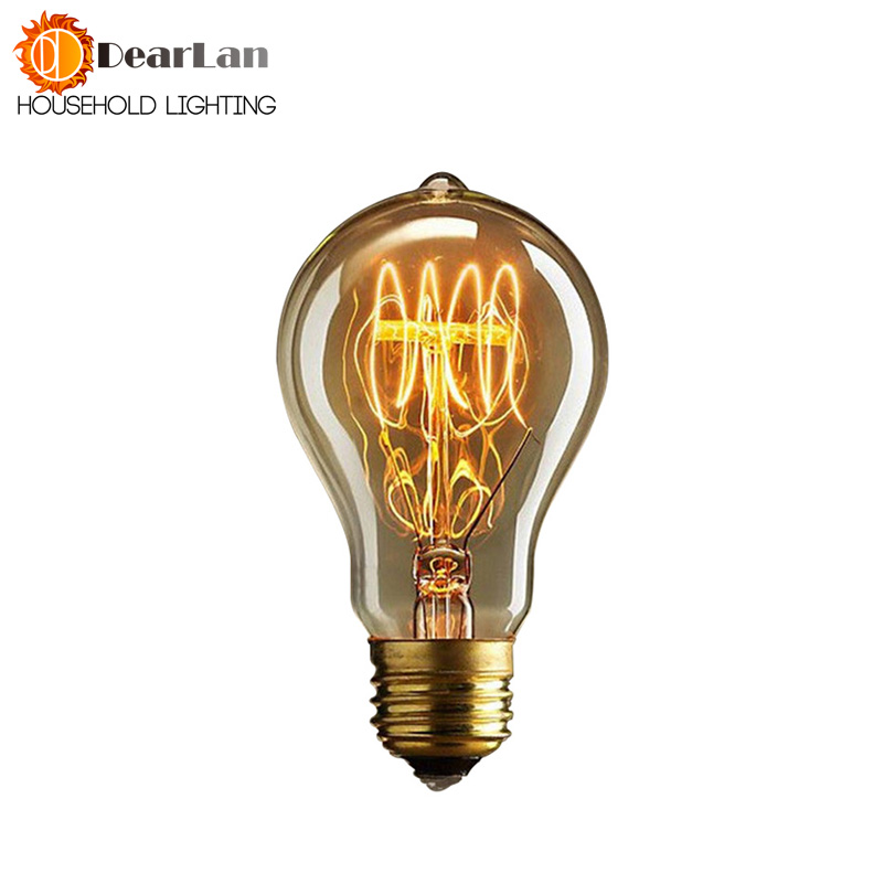A19 Lovely Bulb E27 Incandescent Vintage Light Bulb,Household/Bar/Coffee Shop/Hotel /Dress Shop Retro/Classic/ Light Bulb[PD-90](China)