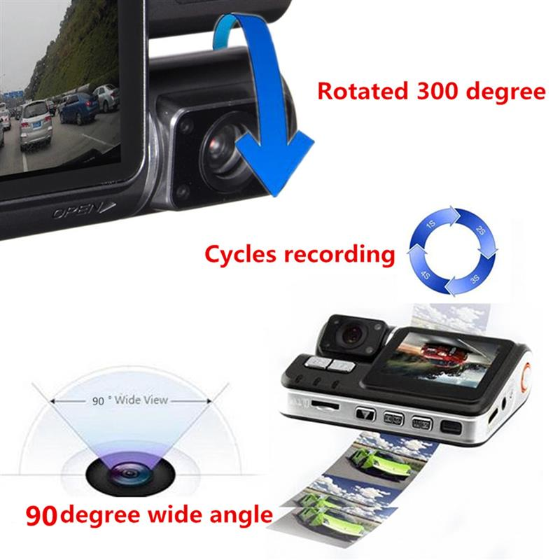 HD 1080P 2.0 Inch Car DVR Video Dash Camera Registrator With IR Night Vision DVR Video Recorder USB G-sensor 170 Degrees 5