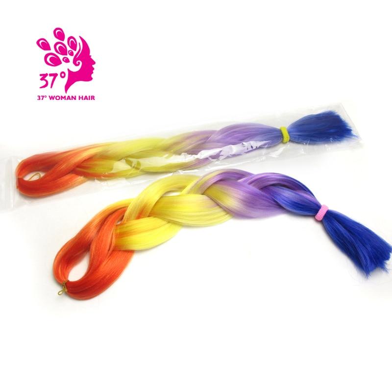 Ombre Kanekalon Braiding Hair box braids hair (131)