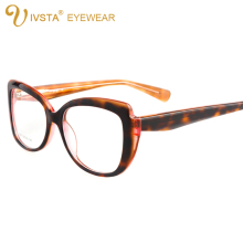 IVSTA Handcrafted Frames Acetate Glasses Women Square Cellulose Eyeglasses  Demi Tortoise Optical Lenses Prescription 5011
