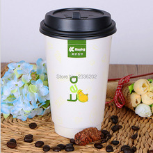 8-16oz High Quality Low MOQ Double Wall Paper Cup Customized Logo Printing for Hot Coffee drink Eco-friendly Food Material