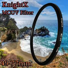 KnightX 49 52 55 58 62 67 77 MC UV MM Filter for Nikon Canon EOS 6D 100D 70D 700D 5D D5200 lens accessories 1200d 52mm 58mm 67mm(China)