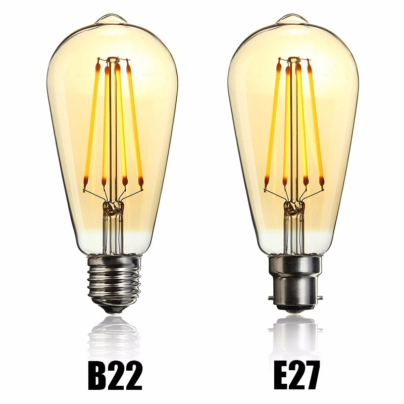 Vintage LED Light Bulb Edison Bulb E27 B22 ST64 Dimmable LED 4W Retro Squirrel Cage Filaments Lamp Bulb Warm White Ligthing 220V<br><br>Aliexpress
