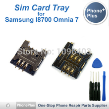 For Samsung I8700 Omnia 7 Sim Card Reader Module Slot Tray Holder Socket Repalcement Part With Tools High Quality