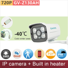 Built in heater -40 degree hardy IP camera 720P HD outdoor security CCTV surveillance camera mini bullet ONVIF GANVIS GV-Z130AH