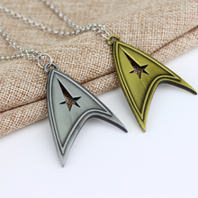 Movie Star Trek Jewelry Star Trek Enterprise Starfleet Command Logo Silver Bronze Metal Pendant Necklace(China)