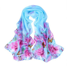 Elegant Nobility 2017 Spring Summer Scarf Womens Shawl Peony Pattern Long Stole Scarves Apr 5